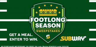 Subway Footlong Season Sweepstakes 2020