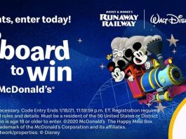 Hop Aboard to Win Sweepstakes at McDonald's