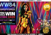 Bing Bang Theory Wonder Woman 1984 Sweepstakes 2020