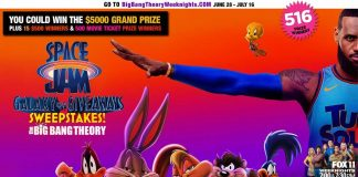 Big Bang Theory Space Jam Galaxy of Giveaways Sweepstakes 2021