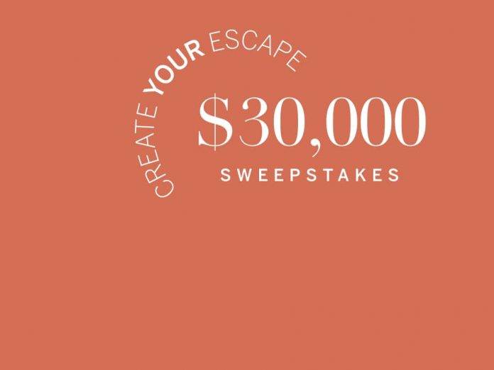 Frontgate Escape $30,000 Sweepstakes 2021
