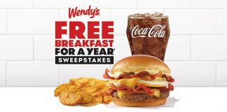 Wendy's Free Breakfast For A Year Instant Win Game 2021