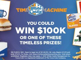 White Castle Time Machine 100th Birthday Celebration Instant Win Game & Sweepstakes 2021