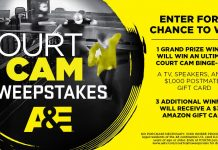 A&E TV Court Cam Sweepstakes 2021